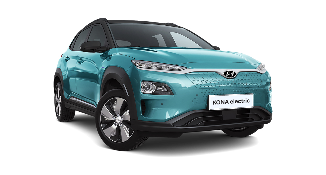 kona electric front right side view
