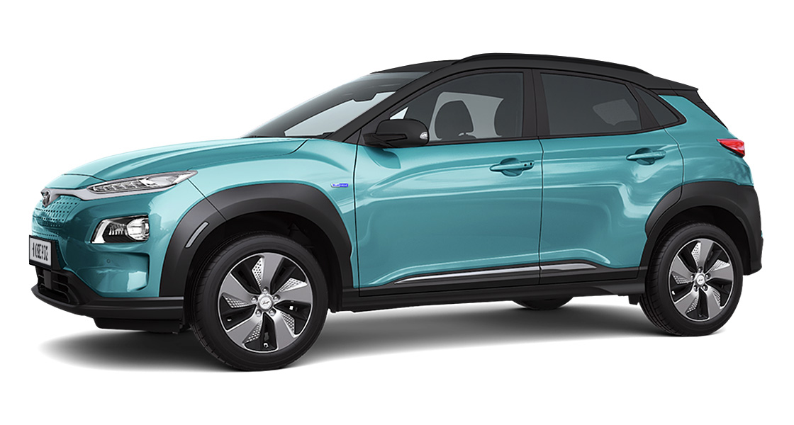 kona electric left side view